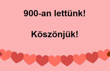 900 kedvelője van a tanszék FB-oldalának