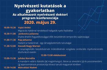 Az alkalmazott nyelvészeti doktori program konferenciája